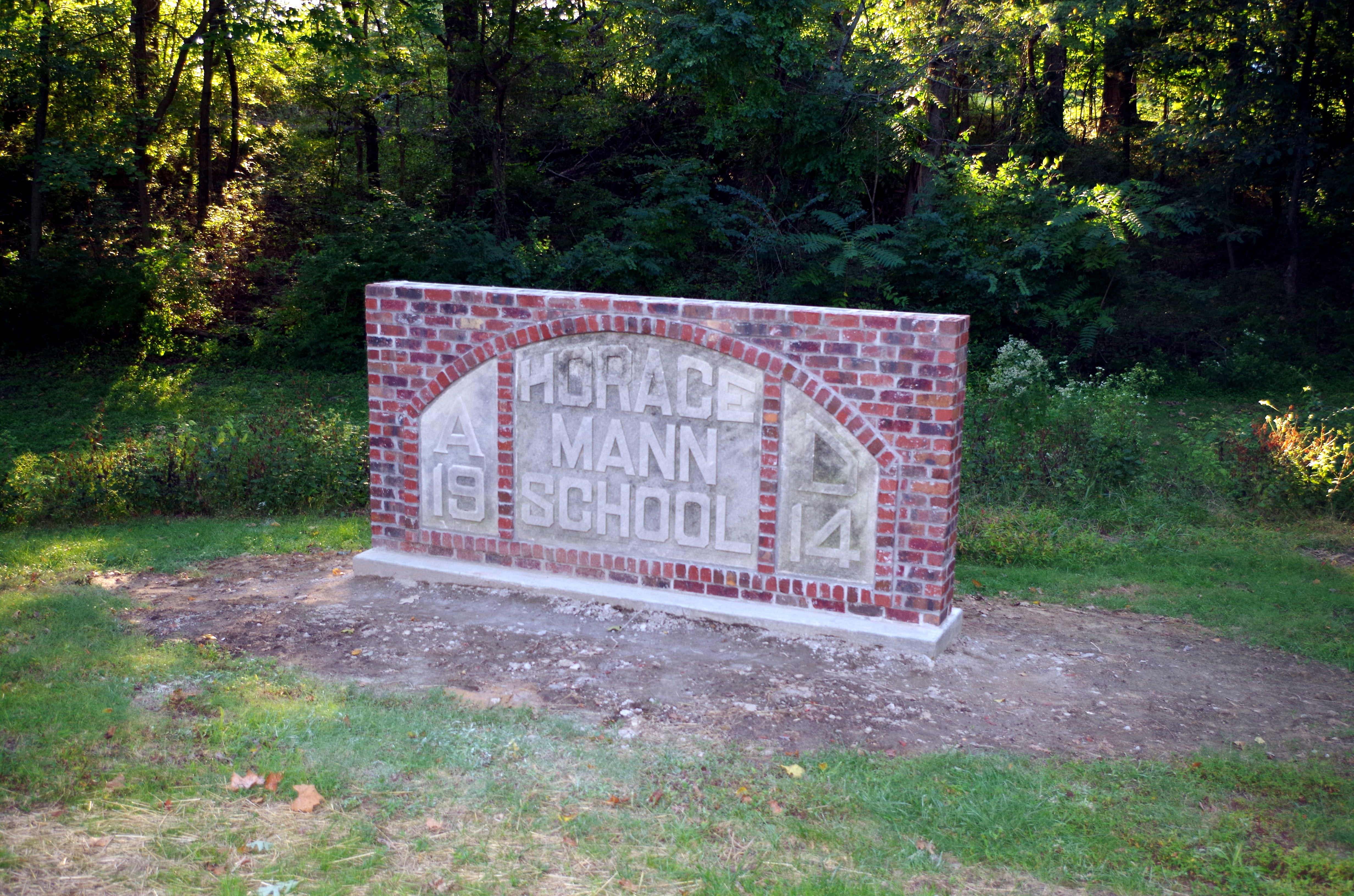 Horace Mann School Sign